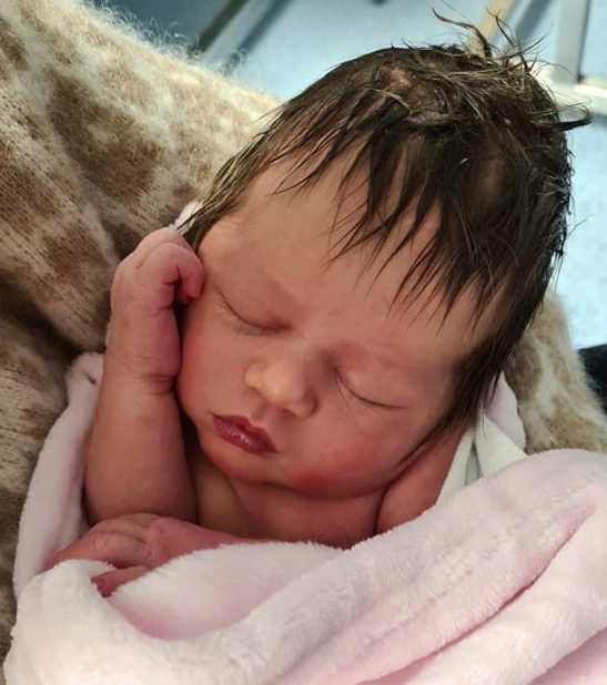 New born baby who may be at risk of whooping cough/ pertussis