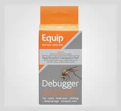 Debugger to treat clothes with permethrin and stop insects
